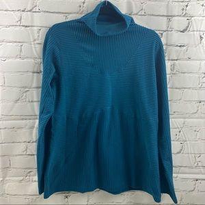 Nike hyperwarm velour teal long sleeve shirt